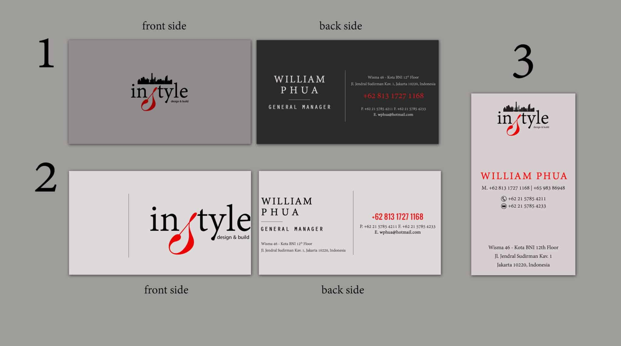 Name Card Design For Instyle Interior Designs